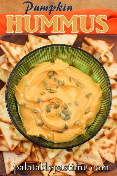 Pumpkin Hummus #SRC