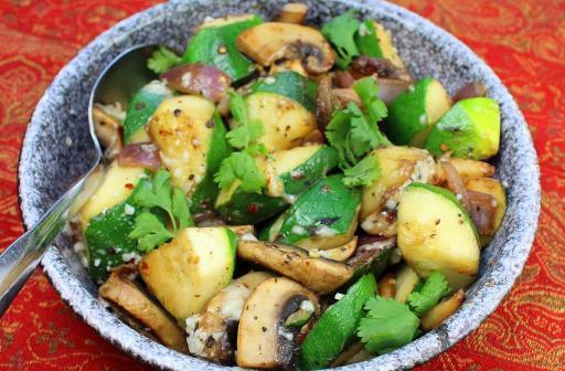 Quick Sauteed Zucchini and Mushrooms