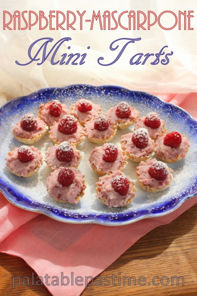 Raspberry Mascarpone Mini Tarts #SundaySupper