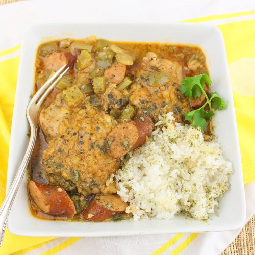 Sausage and Chicken Leg Gumbo
