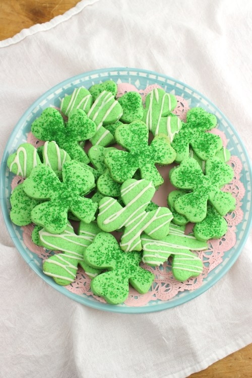 Shamrock Cut-Out Cookies