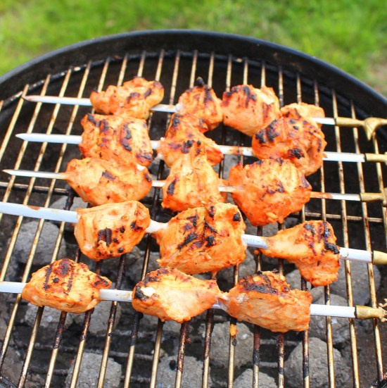Shish Tawook on Grill