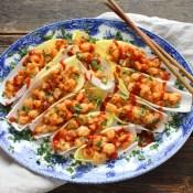 Spicy Szechuan Shrimp Lettuce Cups