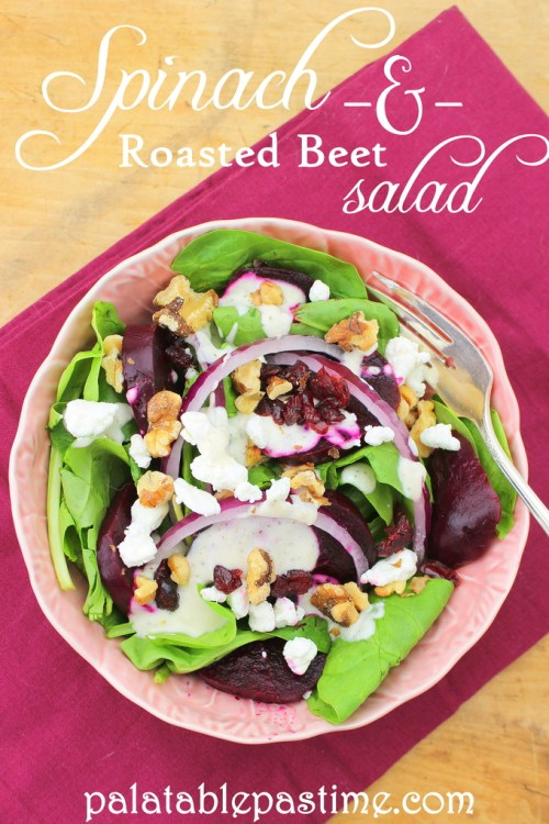 Spinach and Roasted Beet Salad