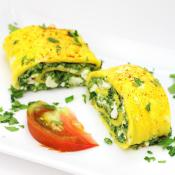 Greek Omelette Roll with Spinach