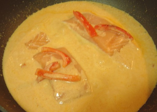 Thai Salmon Curry Cooking