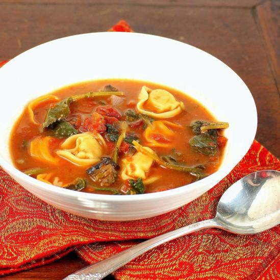Rustic Tortellini Soup