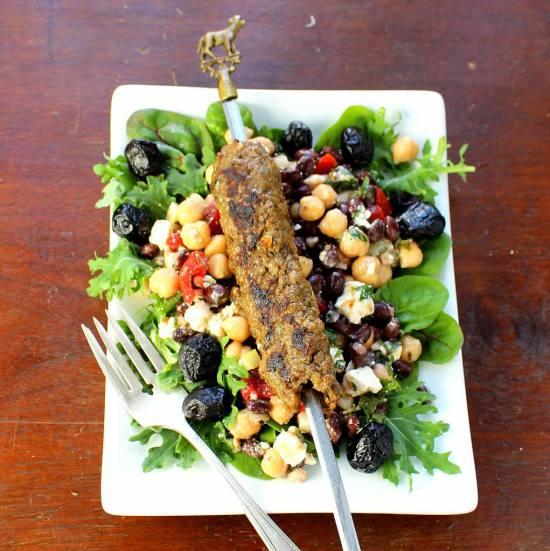 Balela Salad with Seekh Kebab