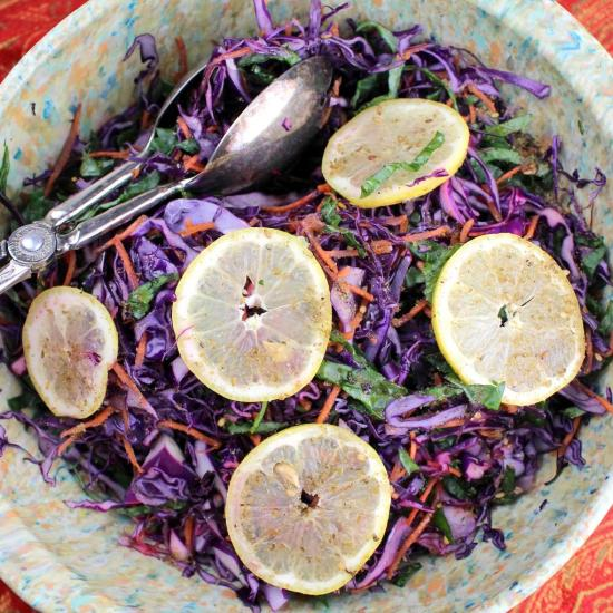 Lebanese Red Cabbage Salad