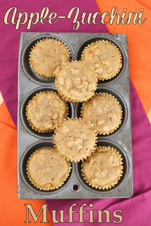 Apple-Zucchini Muffins #MuffinMonday