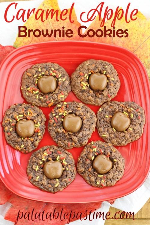Caramel Apple Brownie Cookies