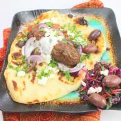 Ground Lamb Shish Kebabs on Pita