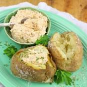 Loaded Salt Crusted Jacket Potatoes