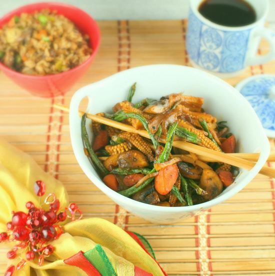 Spicy Corn and Long Bean Stir-Fry