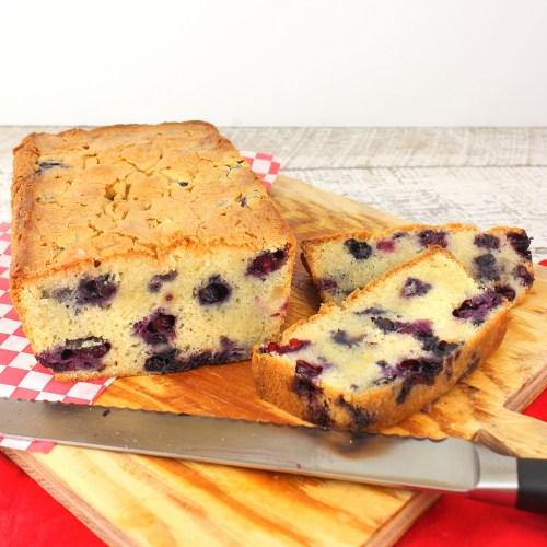 Blueberry Lemongrass Quick Bread