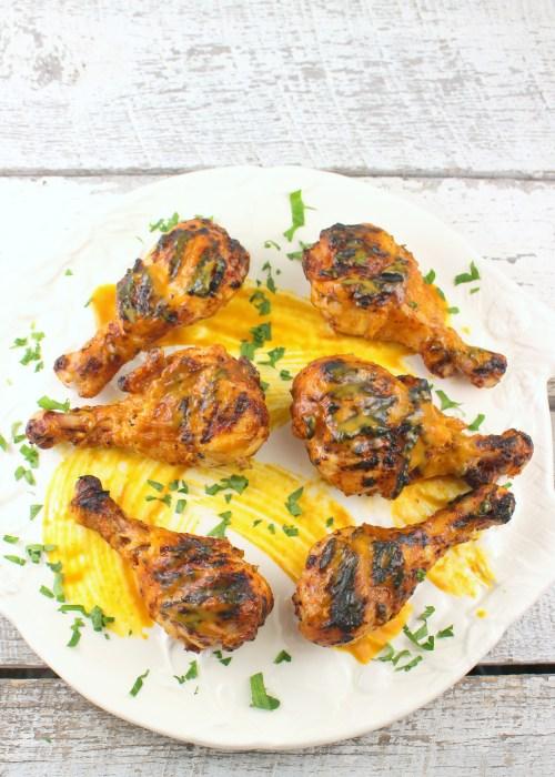 Carolina Gold Barbecue Buttermilk Brined Chicken Drumsticks