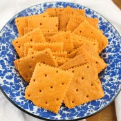 Crispy Homemade Cheddar Crackers
