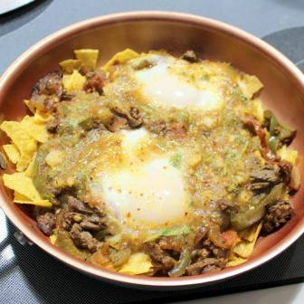 chilaquiles with soft eggs