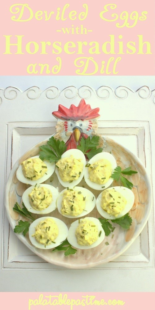 Deviled Eggs with Horseradish and Dill