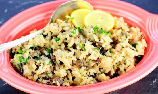 Mushroom Long Grain and Wild Rice Pilaf