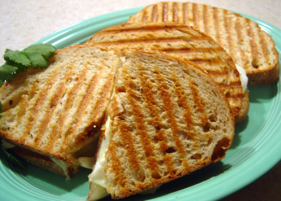 Two-Cheese Panini with Tomato-Olive Pesto