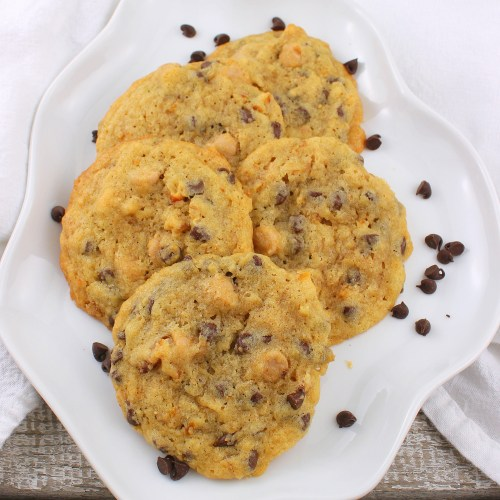 Salted Caramel Pretzel Chocolate Chip Cookies