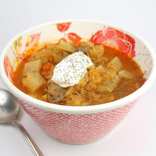 Shchi - Winter Sour Cabbage Soup