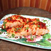 Sweet and Spicy Jalapeno Glazed Salmon