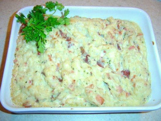 Twice cooked Irish cheddar potatoes