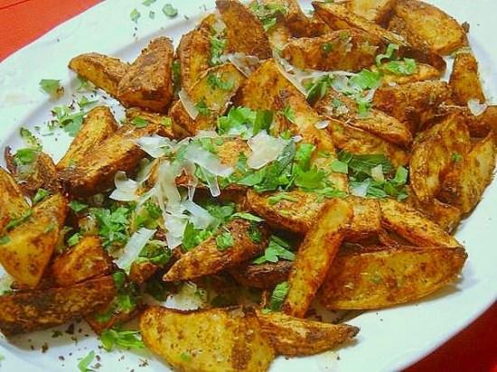 Garlic-Parmesan Potato Wedges