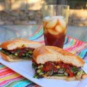 Grilled Vegetable Sandwich with Tomato-Bacon Jam