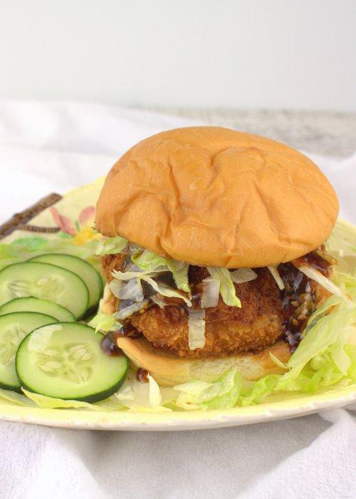 Crispy Honey Sesame Shrimp Burgers