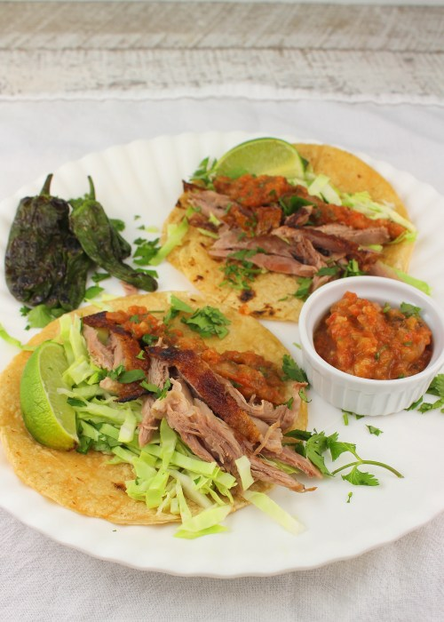Grilled Duck Tacos with Salsa Naranja