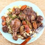 Coq au Vin (French Braised Chicken with Wine)