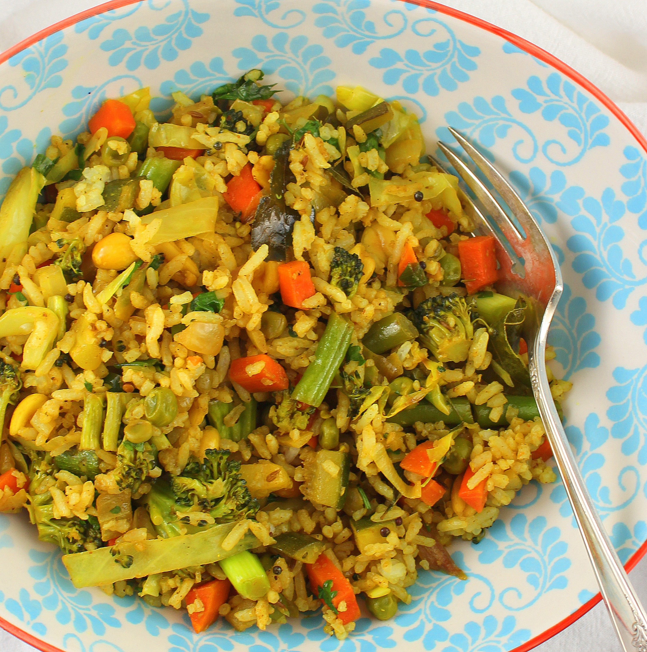 Indian Style Vegetable Fried Rice