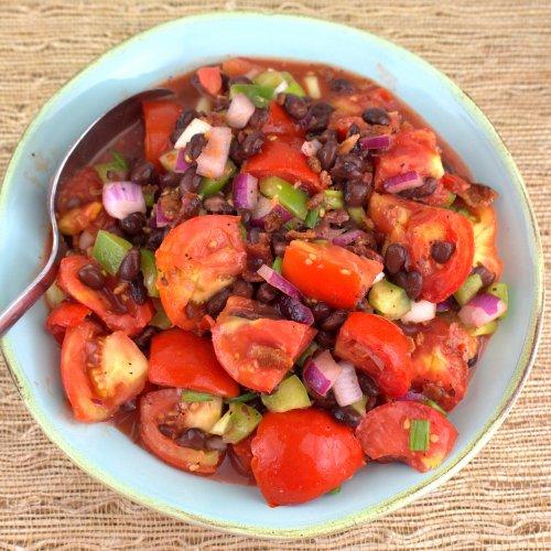 Marinated Black Bean and Tomato Salad