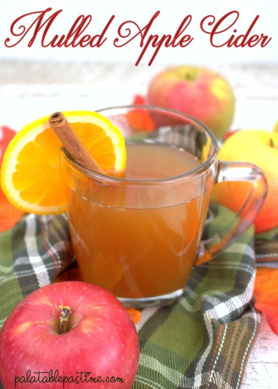 Warm spiced mulled apple cider to chase away the chills, vampires and werewolves on a cool autumn evening!