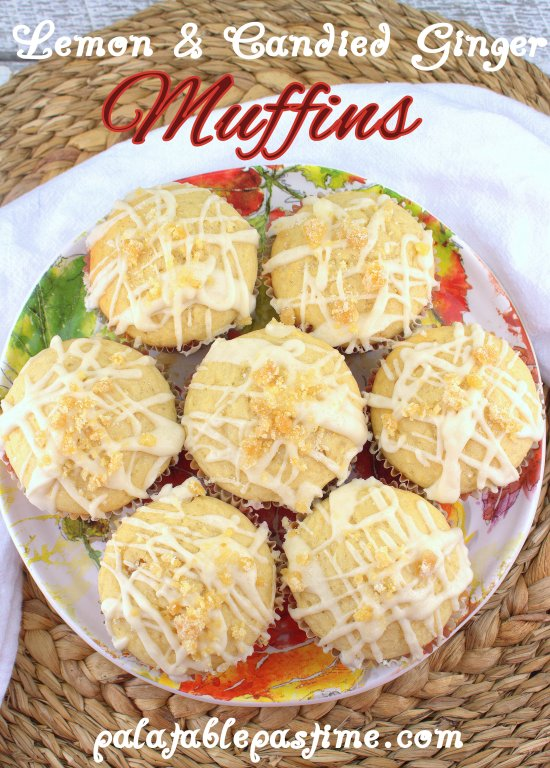 Lemon and Candied Ginger Muffins