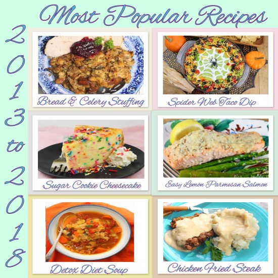 Most Popular Recipes 2013-2018