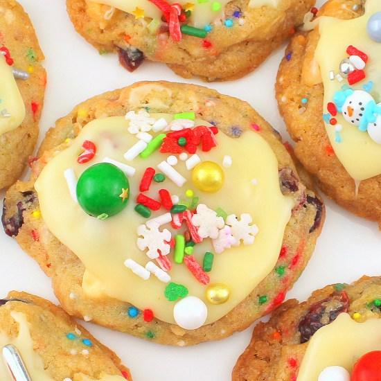 Cranberry Kit-Kat Cookies