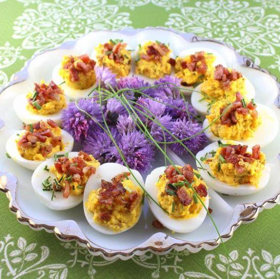 Bacon-Cheddar Deviled Eggs