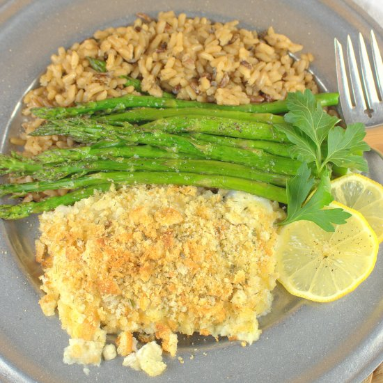 Crumb Topped Baked Cod
