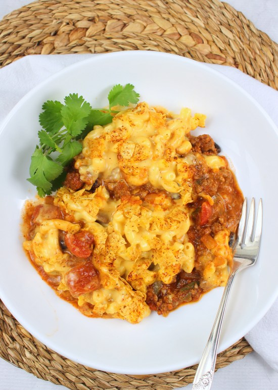 Layered Chili Mac and Cheese