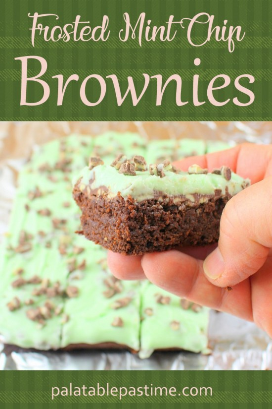 Frosted Mint Chip Brownies