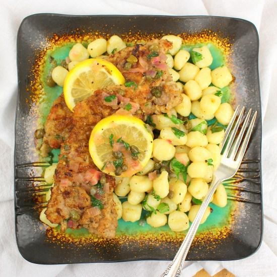 Veal Scallopini and Piccata Gnocchi