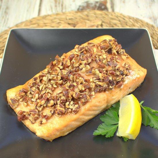 Maple Bourbon Oven Glazed Salmon
