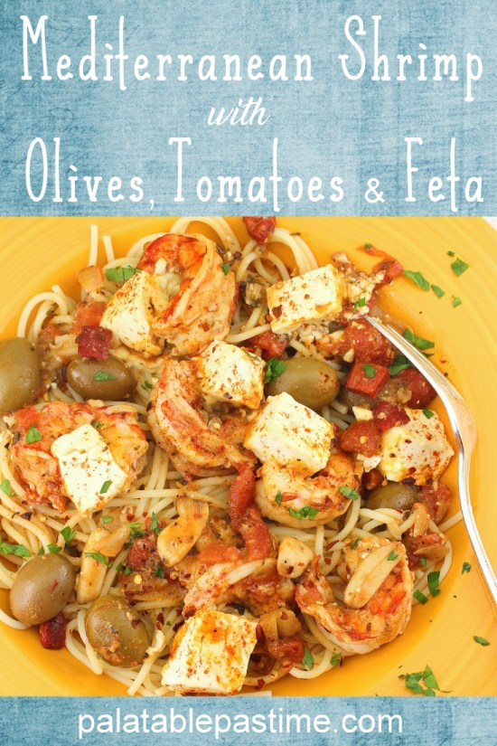 Mediterranean Shrimp with Olives, Tomatoes and Feta
