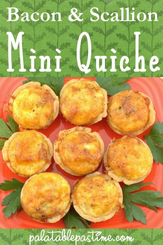 Bacon and Scallion MiniQuiche