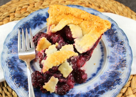 Lattice Top Blackberry Pie