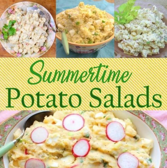 summertime potato salads